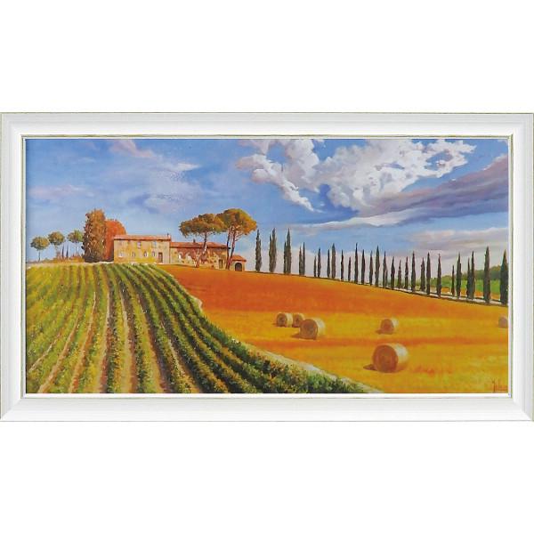 アドリアーノガラッソー アートフレーム「コリーヌトスカーナ」 室内装飾品 絵画額 ポスタ-パネル額 AG-20001(代引不可)