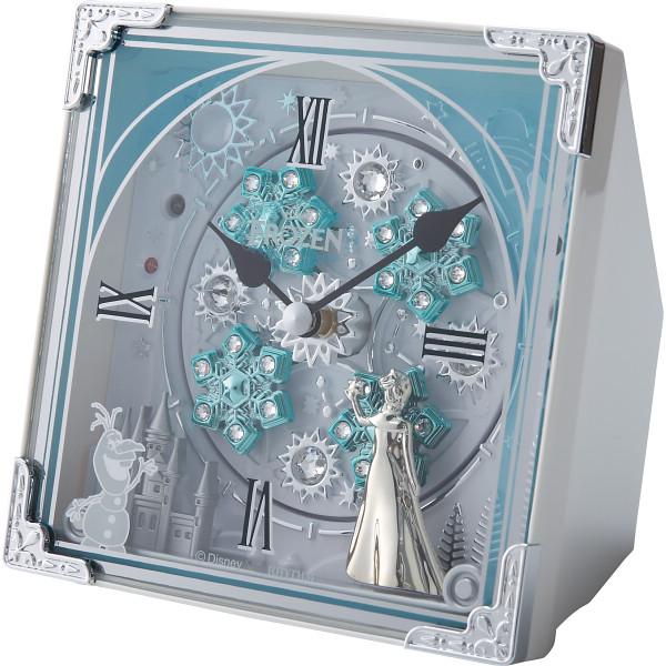 ディズニー アナと雪の女王 からくり置時計(27曲入) 室内装飾品 掛け時計 からくり時計 4RH784MA03(代引不可)【送料無料】