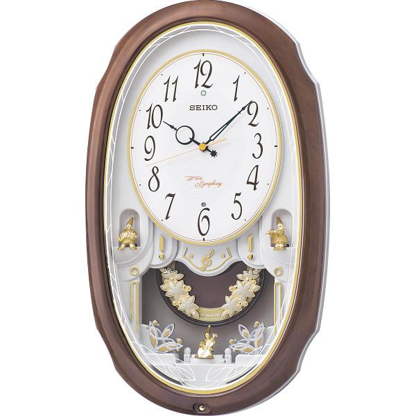 セイコー メロディ電波掛時計 ウエーブシンフォニー(16曲) 室内装飾品 掛け時計 振り子付時計 AM260A(代引不可)【送料無料】