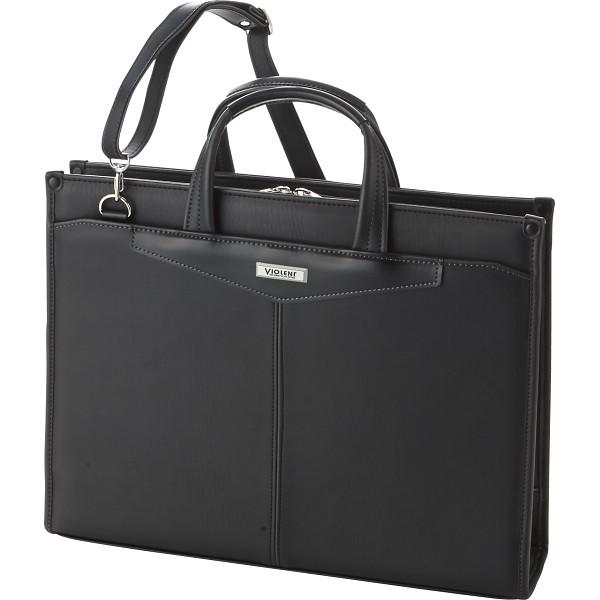 VIOLENT ヴィオレント 2本取手ビジネスバッグ ブラック カバン バッグビジネス 手付きクラッチ 2333(代引不可)【送料無料】