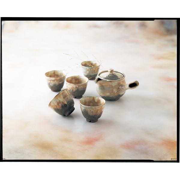 萩焼 御本手 番茶器揃 和陶器 和陶茶器 急須茶器 邑華‐1(代引不可)【送料無料】