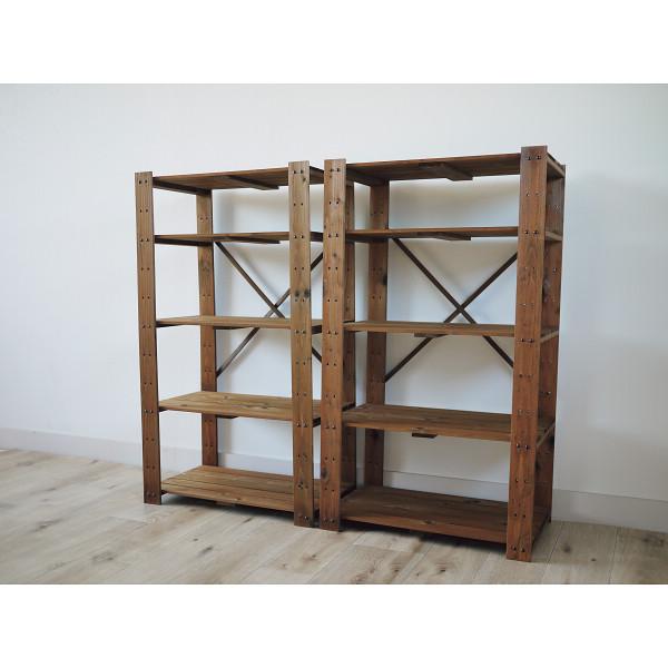 木製ラック5段2個組 ブラウン 木製品 家具 書斎 リビング家具 ラック TNMR-10560BR-2P(代引不可)【送料無料】