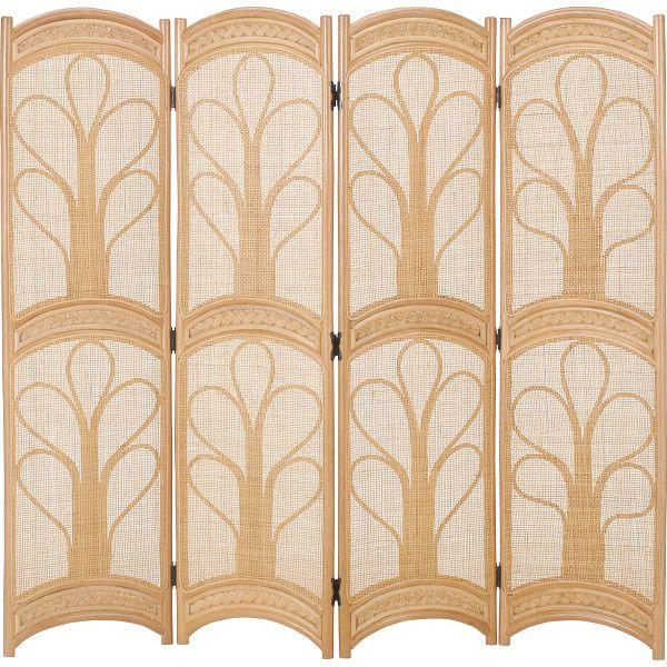 籐スクリーン 木製品 家具 籐家具 衝立 スクリーン H28B554(代引不可)【送料無料】