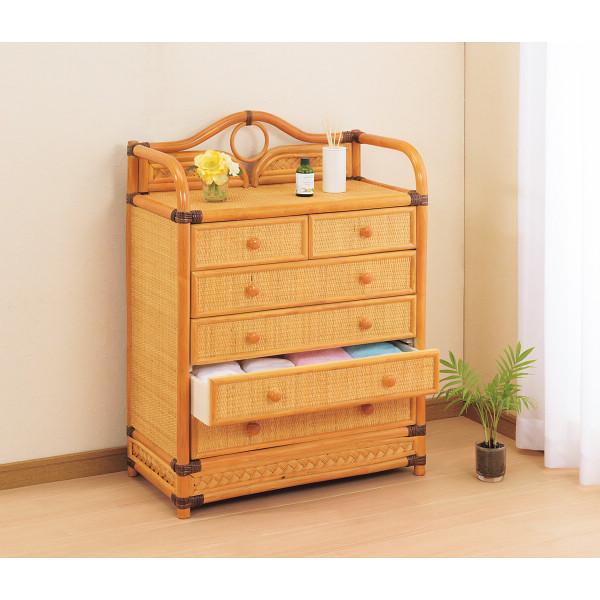 籐チェスト 木製品 家具 籐家具 チェスト H28W754(代引不可)【送料無料】