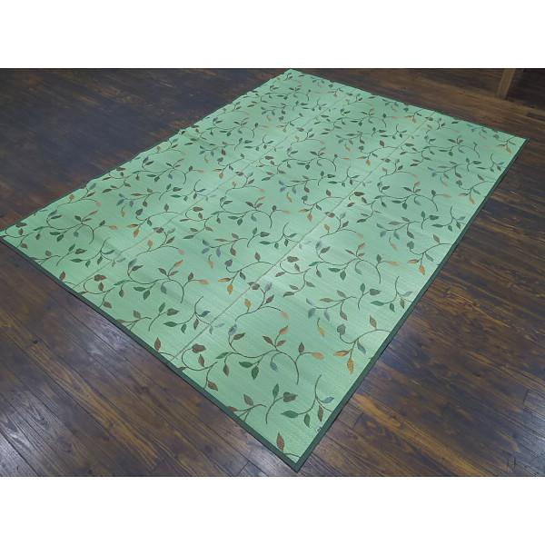袋織い草カーペット グリーン 室内繊維 マット カ-ペット カ-ペット フルート261×352GN(代引不可)【送料無料】