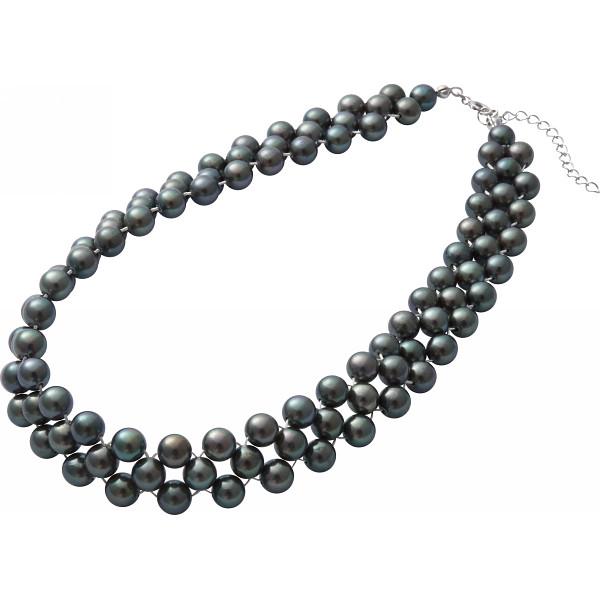 MAISON DE メゾン ドゥ ファミーユ あこや真珠ネックレス グレー 装身具 アクセサリー ネックレス MFN‐500G(代引不可)【送料無料】