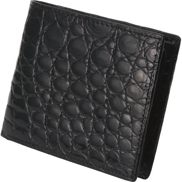 ファゴット クロコダイル 二つ折り札入 ブラック 装身具 財布 MJ-09W BLACK(代引不可)【送料無料】