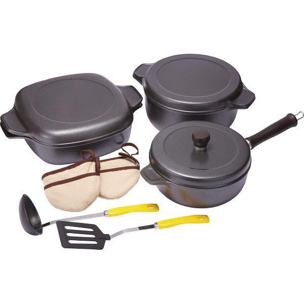 味わい鍋 セレクト3点セット 味わい鍋 鍋ケトルフライパン アルミ鍋 その他鍋セット AZK2022r24r(代引不可)【送料無料】