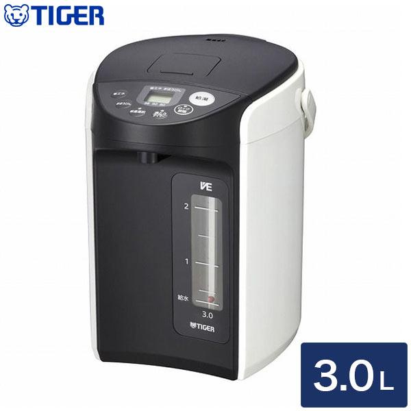 タイガー魔法瓶 VE電気まほうびん とく子さん 3.0L PIQ-A300 W ホワイト【送料無料】
