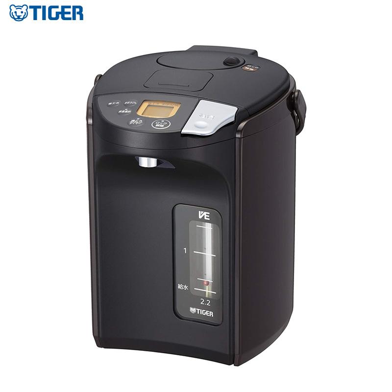 タイガー魔法瓶 蒸気レス VE電気まほうびん 2.2L PIS-A220T ブラック とく子さん 電気ポット 電動ポット【送料無料】