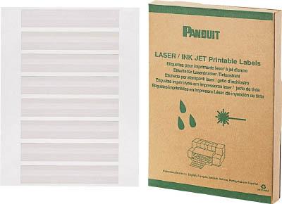 パンドウイット レーザープリンタ用回転ラベル 白 R100X150X1J