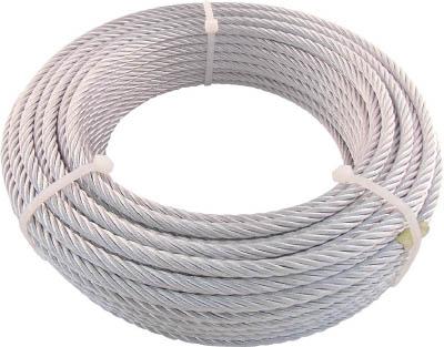 TRUSCO JIS規格品メッキ付ワイヤロープ (6X19)Φ6mmX50m JWM6S50