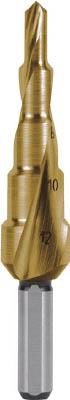 RUKO 2枚刃スパイラルステップドリル 37mm チタン 101060T【S1】