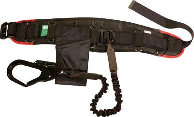 KH エアー式補助帯付安全帯 ジャバラ式 タフアルミ 自在環 黒/緋 HWKKR