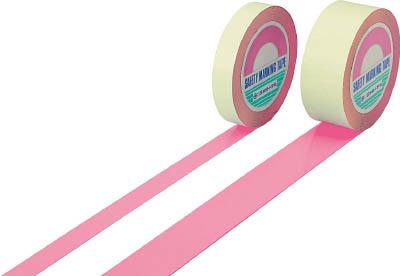 緑十字 ガードテープ(ラインテープ) ピンク 50mm幅×100m 屋内用 148067