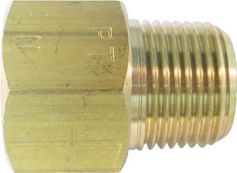 ASOH 黄銅製 変換内外ソケット 外PT1 格安 NF3044 価格 交渉 送料無料 2×内NPT1 2
