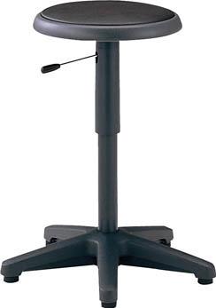 TRUSCO 作業用チェア ガス調整式 Φ360XH495-640 ブラック WC360BK