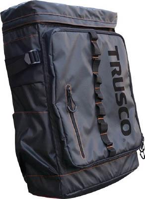 "TRUSCO プロ用軽量ボックス型リュック""ショルダーコンテナ"" A3BLBK"