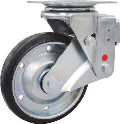 ユーエイ スカイキャスター自在車 200径鋼板ホイル耐摩耗ゴムB入り車輪 SKY1S200WFARAS