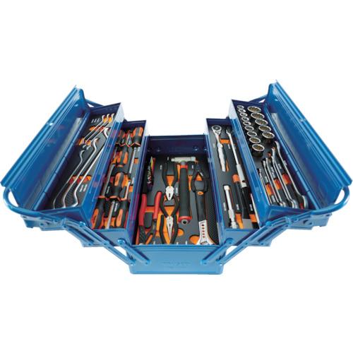 低価格 差込角12.7mm トラスコプロツールセット(55点)ブルー TRUSCO TPT55SB【送料無料】:リコメン堂ホームライフ館-DIY・工具