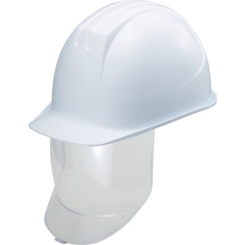 タニザワ 大型シールド面付ヘルメット 溝付 ホワイト【送料無料】