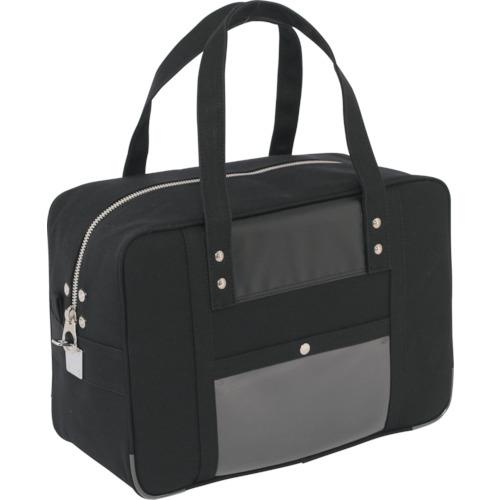 SANEI 帆布メール用ボストン(M)馬蹄錠金具付 黒 BTMU01【送料無料】
