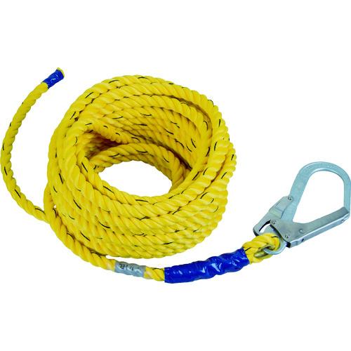 ツヨロン 支柱用親綱ロープ 仮設工業会認定品10M用 HR15TP【送料無料】