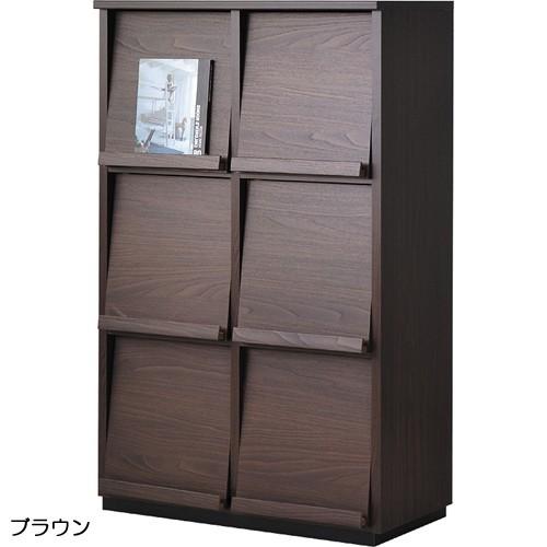 【wal-fit ウォルフィット】 キャビネット WF-1280DP  ブラウン (代引不可)【送料無料】