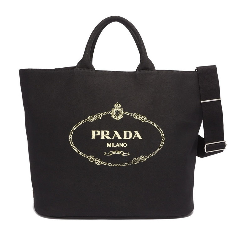 PRADA トートバッグ 1BG161ZKI CANAPA TOTE BAG レディース F0002 NERO プラダ【送料無料】