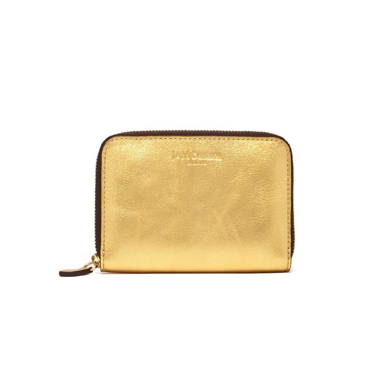 J&M DAVIDSON コインケース SMALL ZIP PURSE 5259-7300 レディース 1450 NEW GOLD/GOLD ジェイアンドエムデヴィッドソン【送料無料】