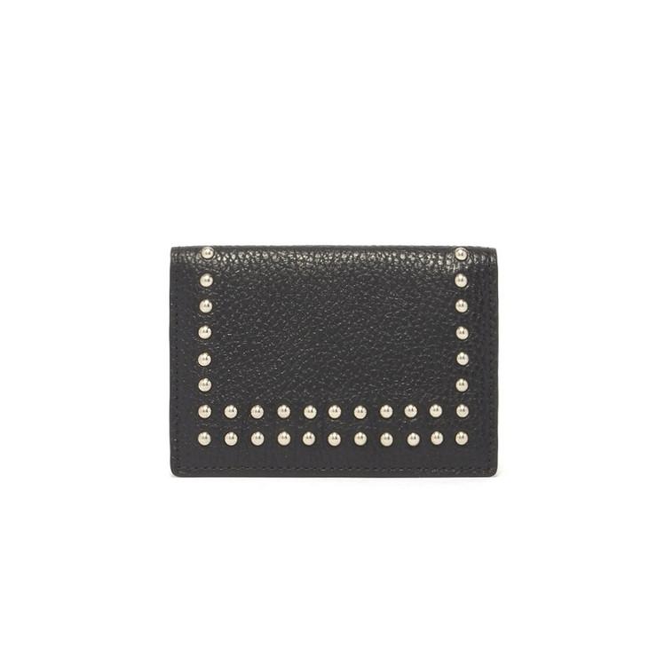 J&M DAVIDSON カードホルダー VISIT CARD HOLDER WITH STUDS 10082N-7266 レディース 9990 BLACK【送料無料】