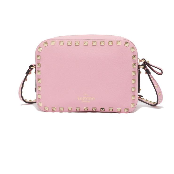 Valentino Garavani ショルダーバッグ ROCKSTUD EMBOSSED CROSS BODY BAG QW2B0809VSF レディース ABSOLUTE ROSE (ピンク PINK)【送料無料】