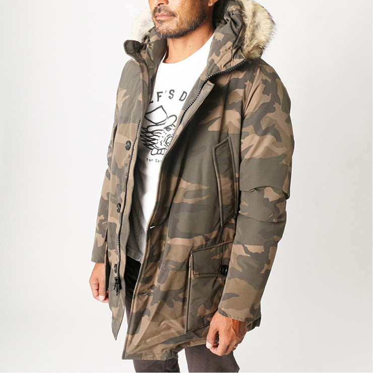 WOOLRICH JOHN RICH & BROS. ダウンジャケット CAMOU ARCTIC PARKA HC WOCPS2679 メンズ BROWN CAMO 7294
