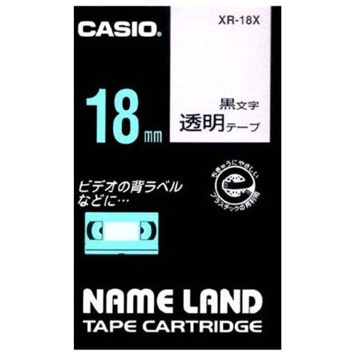 春の新作 カシオ計算機 ネームランド用テープカートリッジ XR-18X 正規販売店