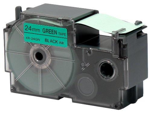 カシオ計算機 ネームランド用テープカートリッジ 与え XR-24GN 特価キャンペーン