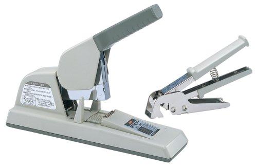 マックス 大型ホッチキス 12号針使用 フラットクリンチ 50~150枚とじ グレー HD-12FR