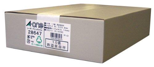 エーワン ラベルシール マット紙 10面 500シート 28647 (1箱)