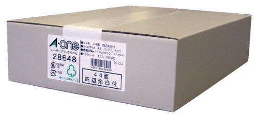 エーワン ラベルシール マット紙 44面 500シート 28648 (1箱)