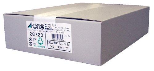 エーワン パソコンプリンタ&ワープロ ラベル シール マット紙 12面 500シート 28723 (1箱)
