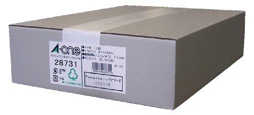 エーワン パソコンプリンタ&ワープロ ラベル シール マット紙 12面 500シート 28731 (1箱)