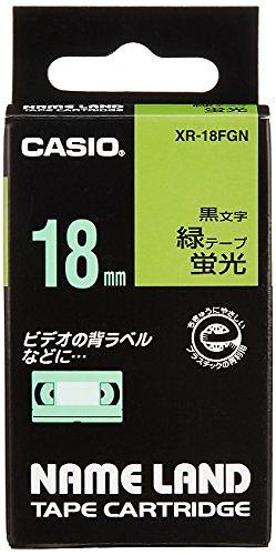 カシオ 蛍光色テープ 入荷予定 国内正規品 XR-18FGNミドリ