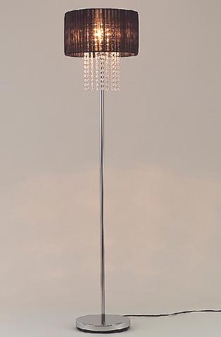 フロアスタンドライト 照明 ライト リビング JF-FL0821BKZ おしゃれ ガラスビーズ 黒色 ブラック(代引不可)【送料無料】