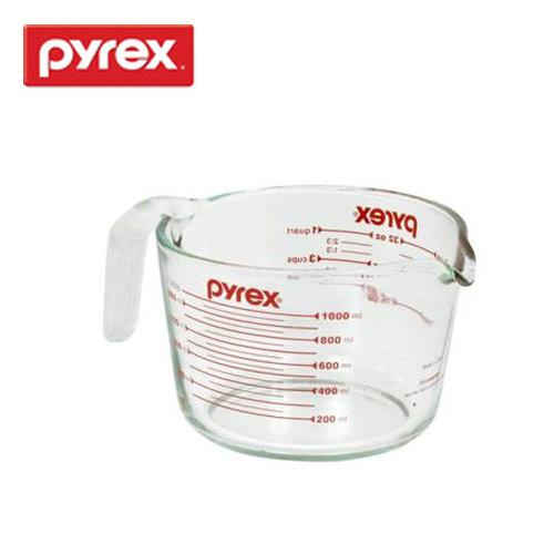 強化ガラス製なので熱いお湯も計れます PYREX 計量カップ メジャーカップ 1.0L CP-8509(代引き不可)