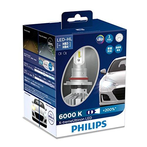 PHILIPS フィリップス エクストリーム アルティノン LED ヘッドランプ / HB3・ HB4 / 6000K / 1760lm 【11005XUX2】