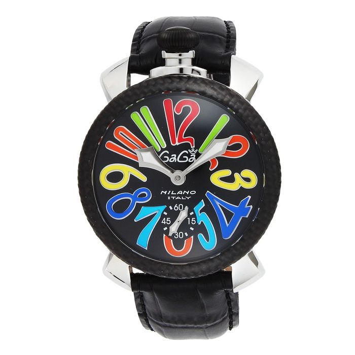 GaGaMILAN ガガミラノ 5015.01S-BLK ブランド 時計 腕時計 メンズ 誕生日 プレゼント ギフト カップル()【送料無料】