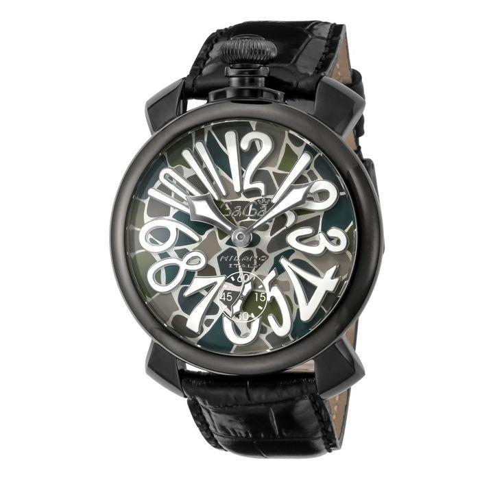 GaGaMILAN ガガミラノ 5012MOSAICO01S-BLK ブランド 時計 腕時計 メンズ 誕生日 プレゼント ギフト カップル()【送料無料】