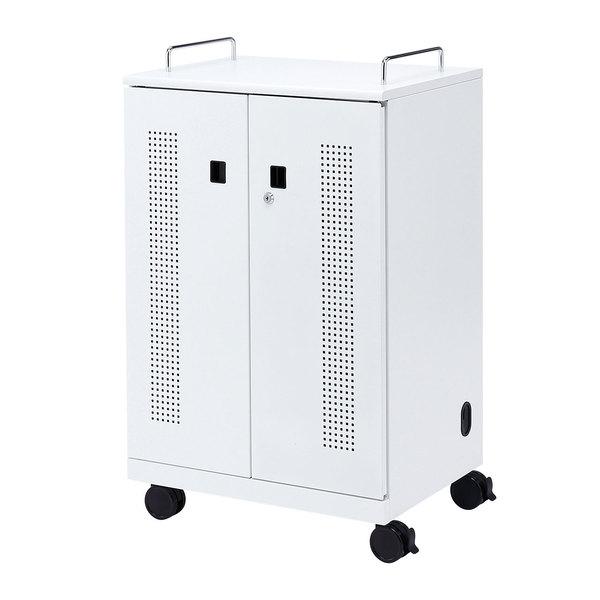 サンワサプライ タブレット収納キャビネット(40台収納) CAI-CAB102W【送料無料】 (代引不可)