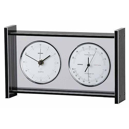 EMPEX (エンペックス) スーパーEX ギャラリー温度・湿度・時計 EX -792 シルバー【送料無料】