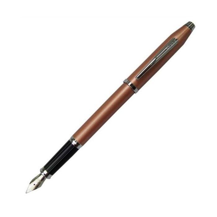 CROSS クロス センチュリ- AT0086-15 ブラッシュドコパ- 万年筆 ペン先 M:中字 筆記具