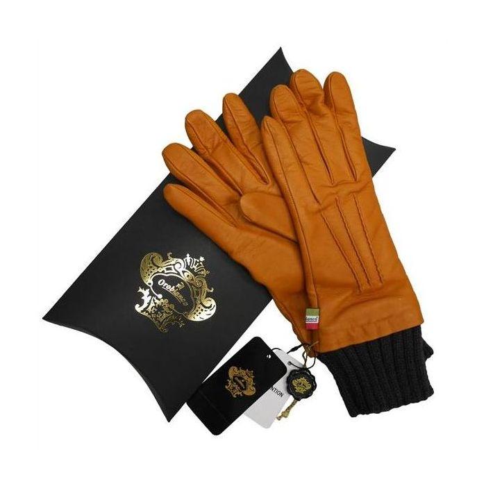 OROBIANCO オロビアンコ レディース手袋 ORL-1454 Leather glove 羊革 ウール ORANGE サイズ:7(20cm) プレゼント クリスマス【送料無料】